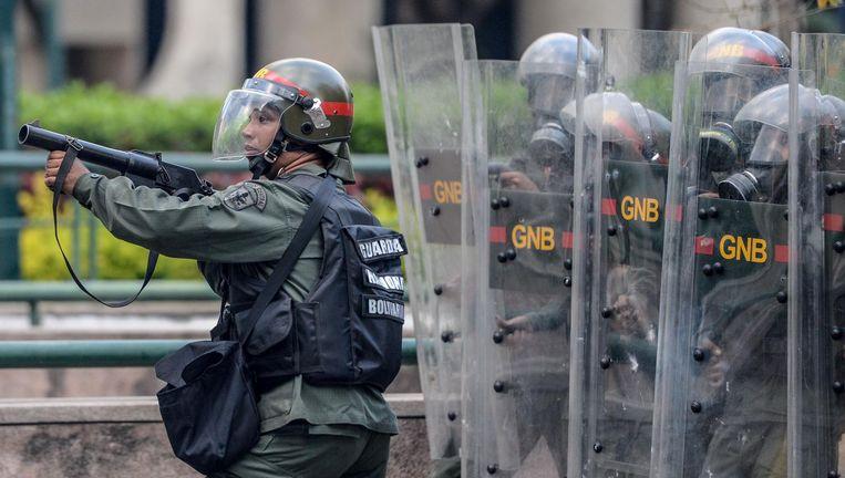 Het is al weken onrustig in Venezuela. Beeld afp