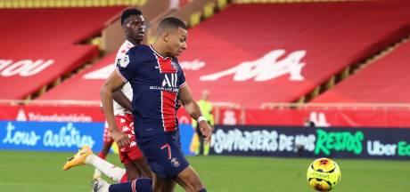 PSG ondanks twee goals teruggekeerde Mbappé onderuit bij Monaco