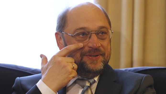 Martin Schulz, de voorzitter van het Europees Parlement.