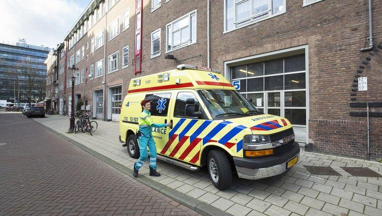 De ambulancepost in de Valckenierstraat Beeld Elmer van der Marel