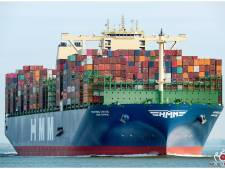 Nog maar eens recordschip voor haven: 'HMM Gdansk' bezoekt op maidentrip Noordzeeterminal