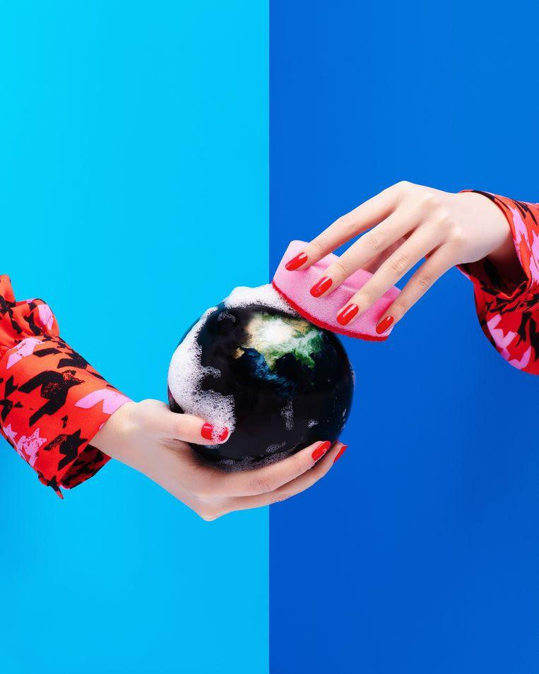 Landen met meer welvaart kunnen meer investeren in een duurzame toekomst. Beeld Getty Images