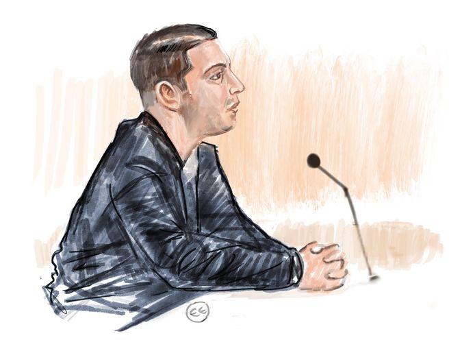 Jihad H. voor de rechtbank in Breda.