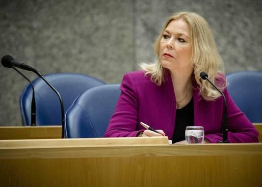 Madeleine van Toorenburg (CDA) tijdens het debat met de kandidaten voor het voorzitterschap van de Tweede Kamer.