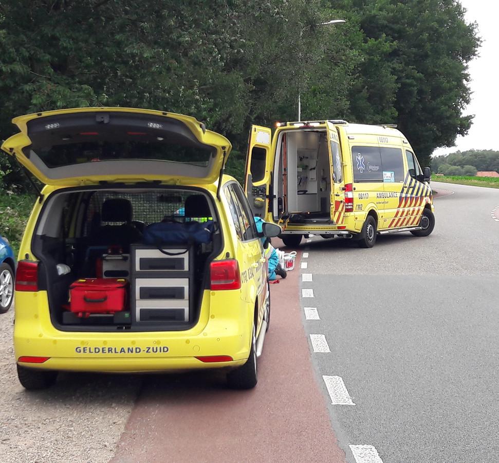 De ambulance is aangekomen op de Neutraleweg.