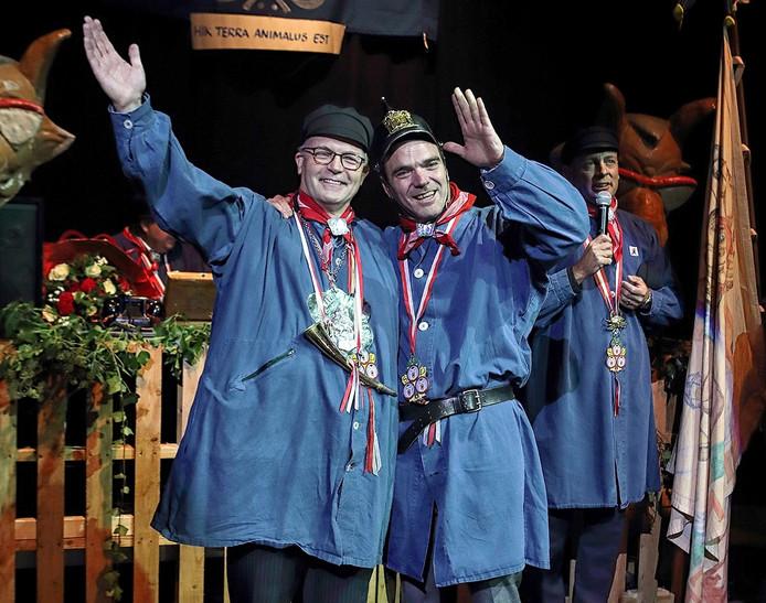 Grootste Boer Joost Eykman (l en de nieuwe Steketee Dennis van Tilborg