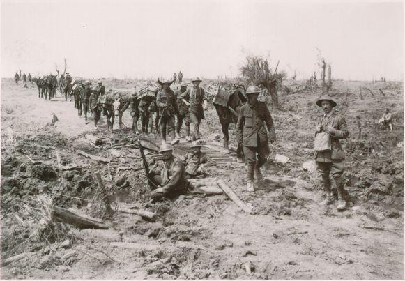 Ierse soldaten bevrijden Wijtschate in 1917.