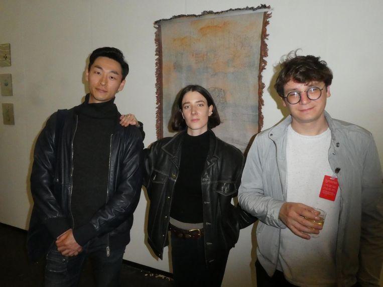Artists in residence: Inup Park, Monica Mays en Roman Ermolaev. Mays: 'Is it appropriate to say: heerlijk?' Zeker wel Beeld Schuim