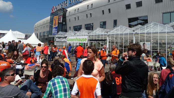 De kas bij het WK Hockey in Den Haag