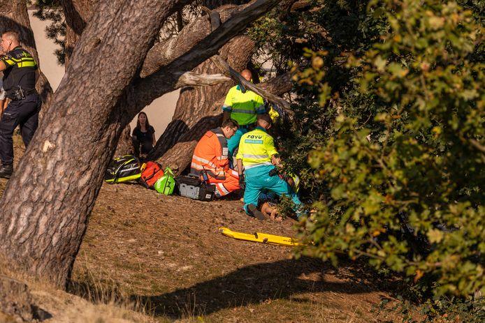 Het traumateam werd per helikopter ingevlogen