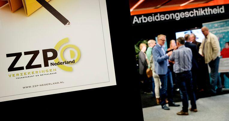 Bezoekers tijdens het jaarlijkse ZZP Nederland congres Beeld ANP