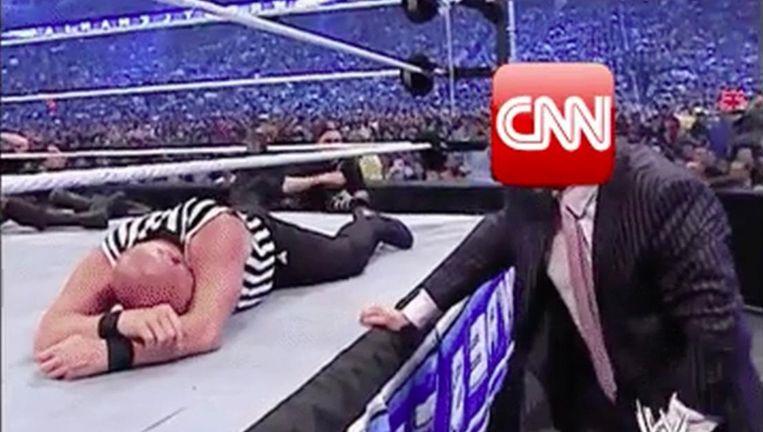 Trump gaat tekeer tegen CNN Beeld