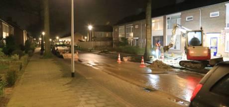 Waterleiding gesprongen in Helmond