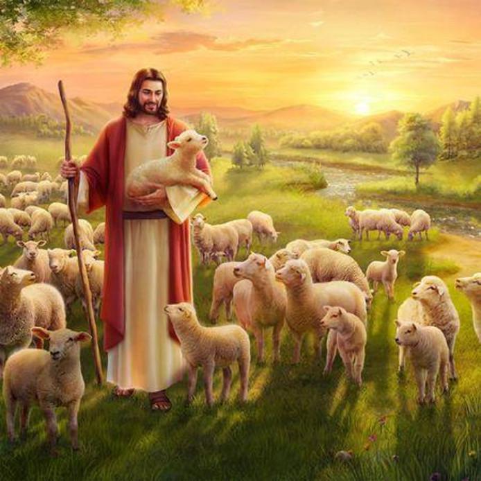 Jezus op een afbeelding van de Kerk van de Almachtige God.