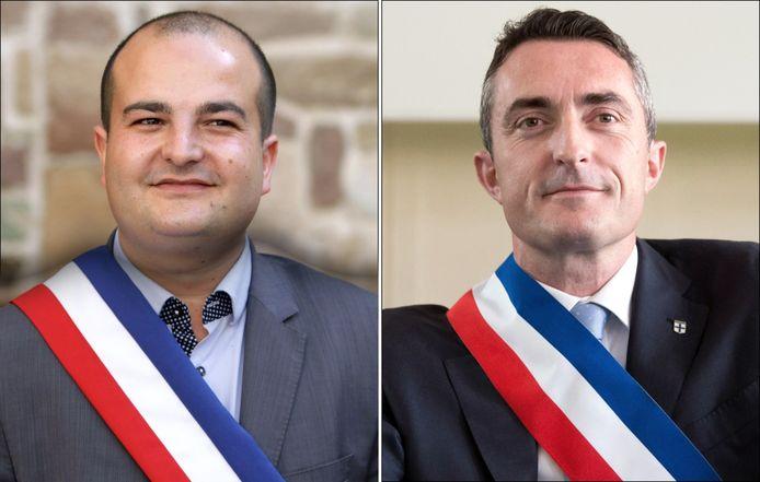 David Rachline (G) devient le plus jeune sénateur de la Ve République. Il sera accompagné de Stéphane Ravier (D).