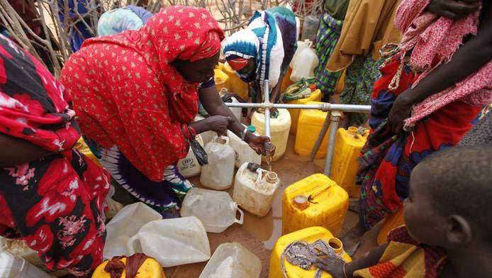 Somalische vrouwen in het vluchtelingenkamp Dadaab.