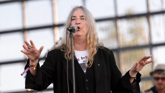 Patti Smith vorige maand tijdens een optreden in Chicago.