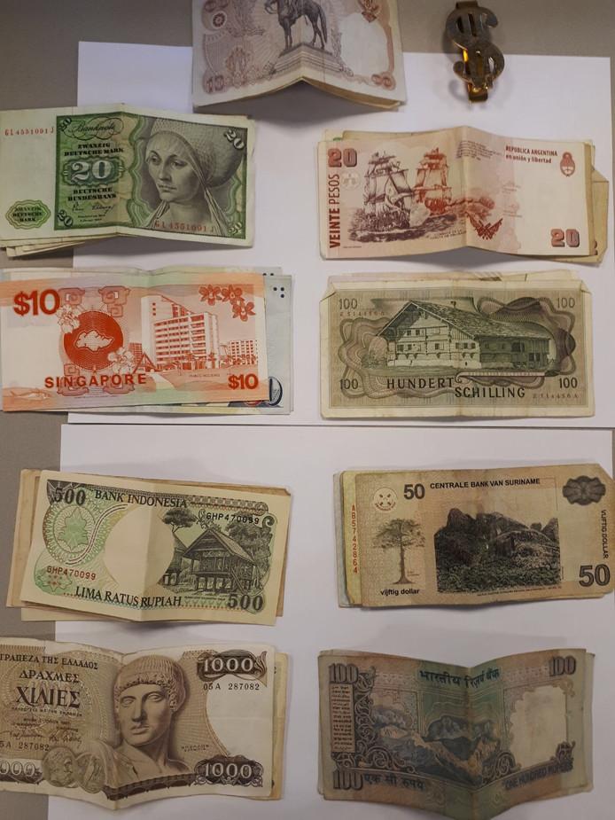 Een deel van het gestolen geld