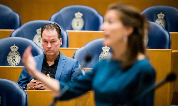 Oppositieleden John Kerstens (Pvda) en Corinne Ellemeet (Groenlinks) tijdens een eerder debat in de Tweede Kamer.