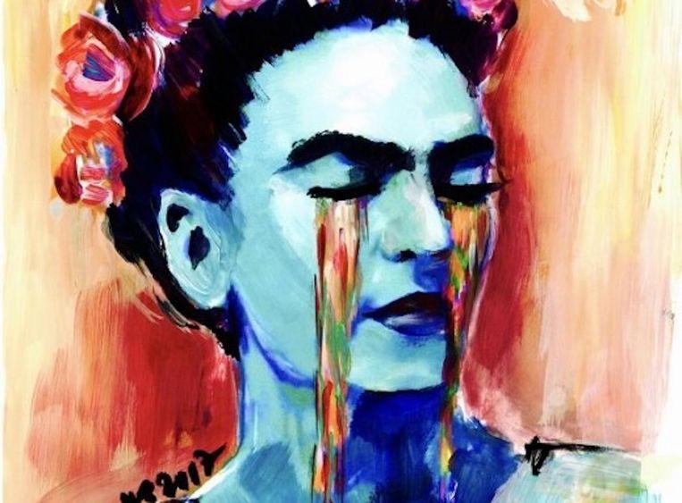 De eerste workshop staat in het teken van de huilende Frida Beeld Artnight