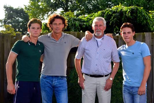 Drie generaties Kreekels, met Mees, Bertran, Lambert en Reva. (2017)