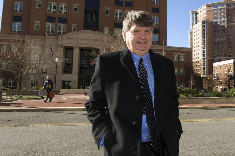 Journalist James Risen van The New York Times. Hij wilde lange tijd niet getuigen in de zaak tegen Sterling. Beeld ap