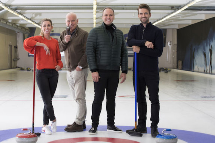 Frans Bauer deed De Curling Quiz.