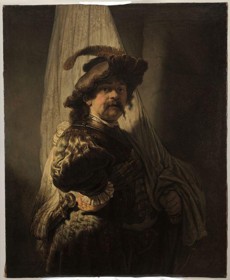 De Vaandeldrager, Rembrandt van Rijn (ca. 1936). Beeld Rijksmuseum