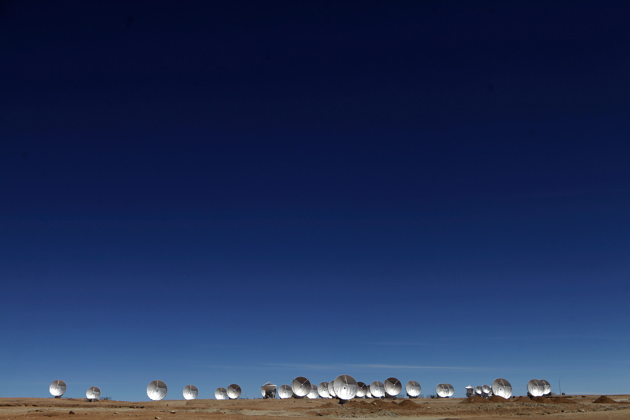De Atacama Millimeter Array (ALMA) in Chili.