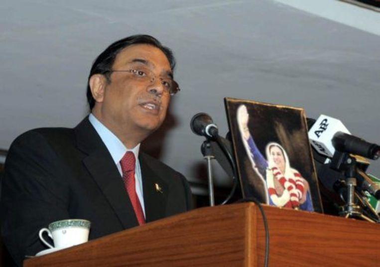 De Pakistaanse president Asif Ali Zardari. ANP Beeld