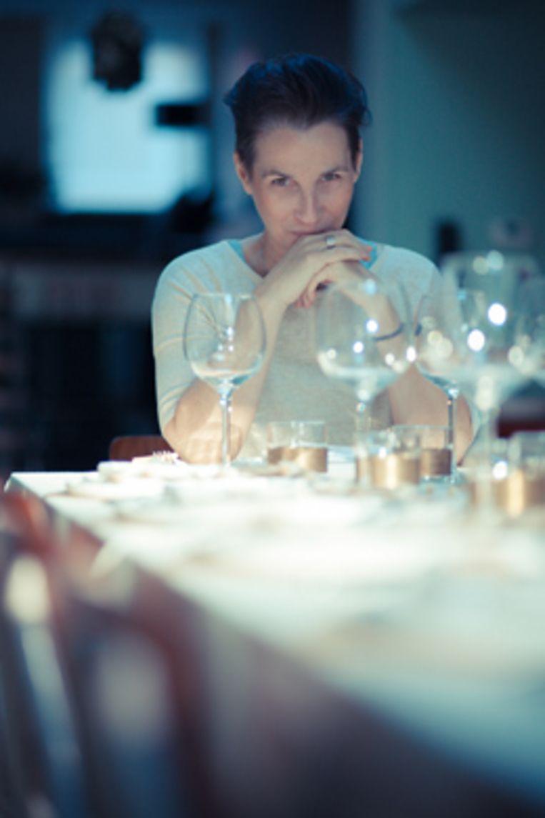 Veerle Dobbelaere aan haar 'Gasten van Veerle'-tafel