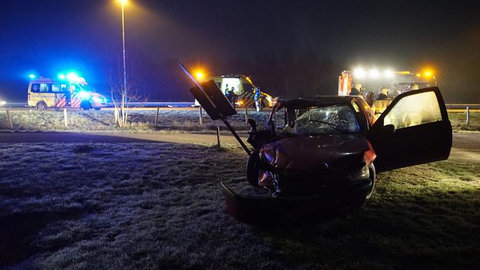 Het ongeluk gebeurde op de A1, ter hoogte van Wilp.