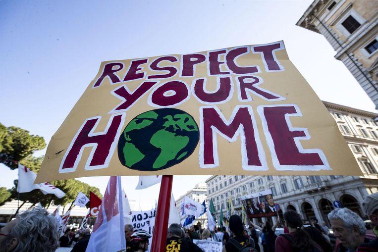 Duizenden jongeren kwamen op 23 maart op straat in Rome om aandacht te vragen voor de klimaatproblemen.