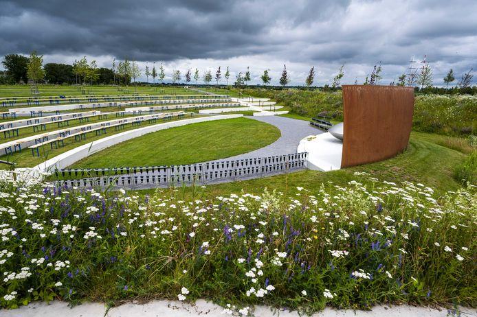 Het Nationaal Monument MH17 in Park Vijfhuizen.