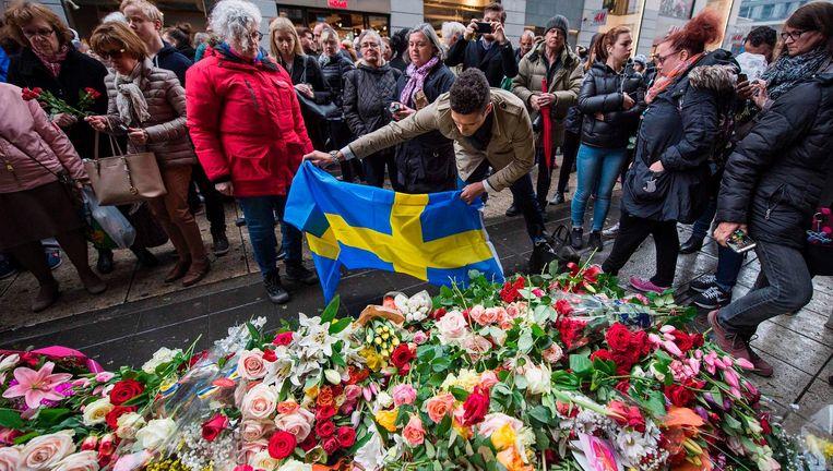 Herdenking op de plek van de aanslag. Beeld AFP