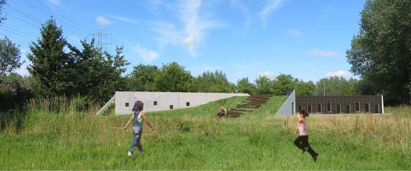 Een simulatie van hoe de nieuwe jeugdlokalen er zouden uitzien in de Broekstraat.