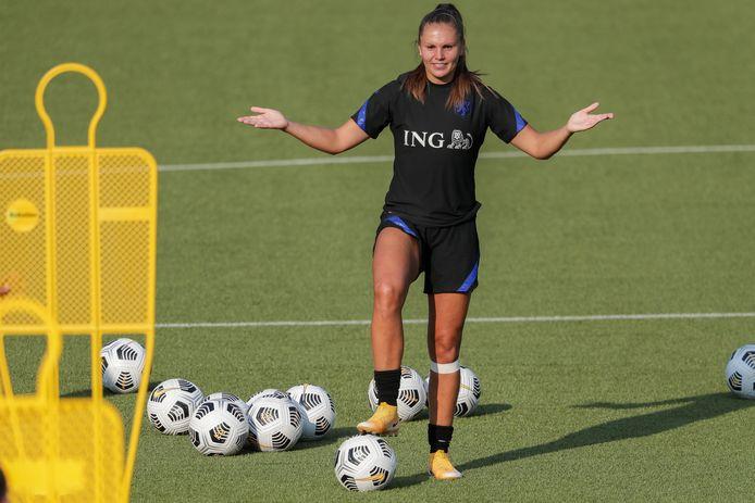 Lieke Martens vandaag op de Oranje-training.