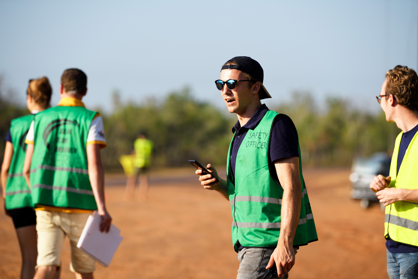 Thomas de Jong in actie in Australië.
