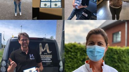 Lions club Herzele verdeelt mondmaskers aan lokale handelaars en thuisverpleegkundigen
