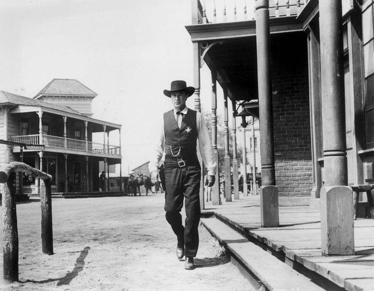 Gary Cooper in High Noon. Beeld