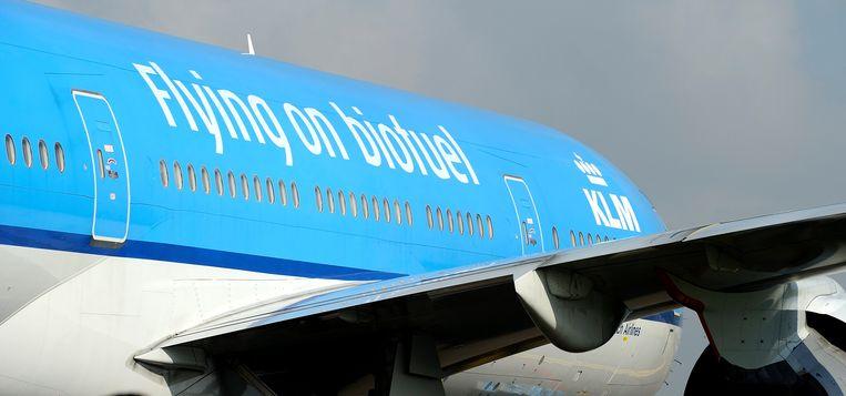 De eerste transatlantische KLM-vlucht vloog in 2012 naar een duurzaamheidstop in Brazilië. Beeld ANP