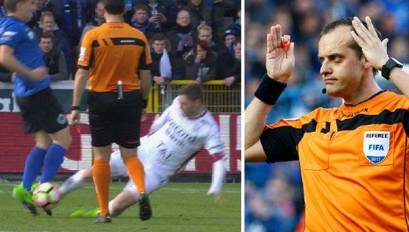 Boucaut vergat om de vliegende tackle van Dalsgaard te bestraffen.