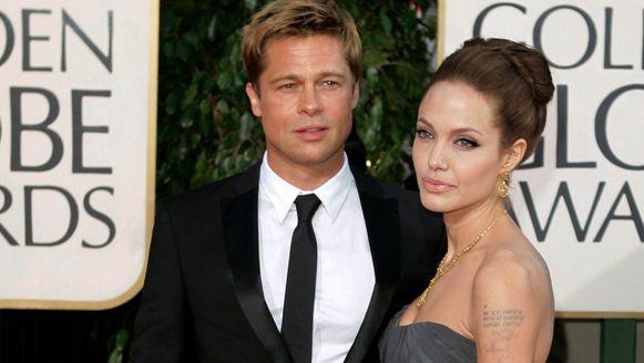 Brad Pitt en Angelina Jolie in 2007.