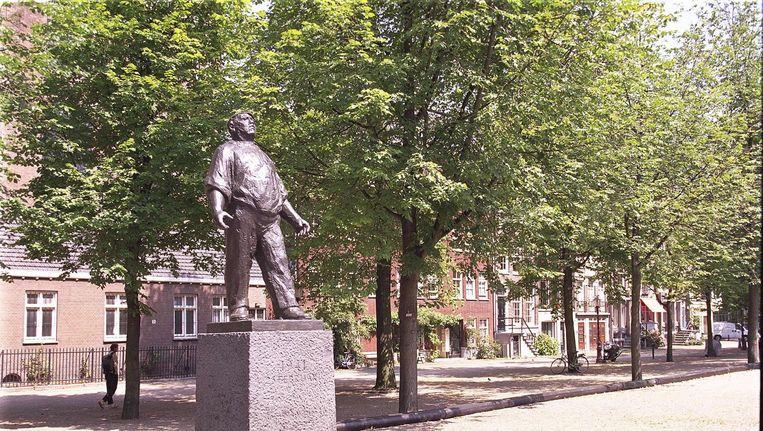 De Dokwerker, het monument dat in 1952 werd onthuld ter nagedachtenis aan de Februaristaking. Beeld anp