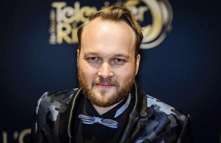Arjen Lubach op de rode loper voor aanvang van het Gouden Televizier-Ring Gala 2015. Beeld anp