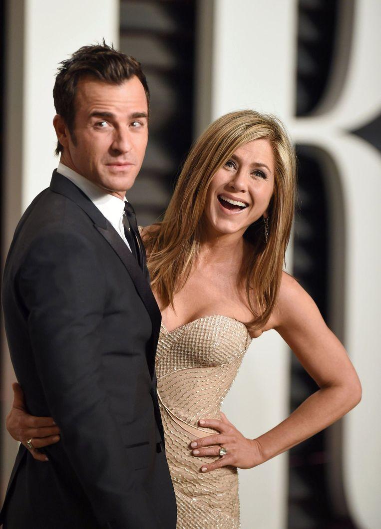 Justin Theroux en Jennifer Aniston.
