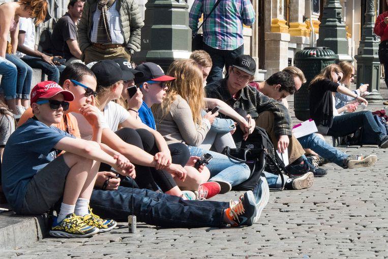 toeristen in Brussel