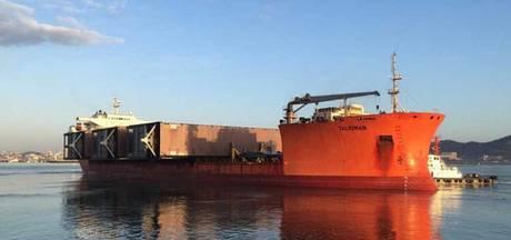 Eerste deur nieuwe zeesluis onderweg naar IJmuiden