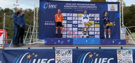 Zilver op EK voor Leuthse mountainbiker Jeroen van Eck: 'Ik kwam voor goud'