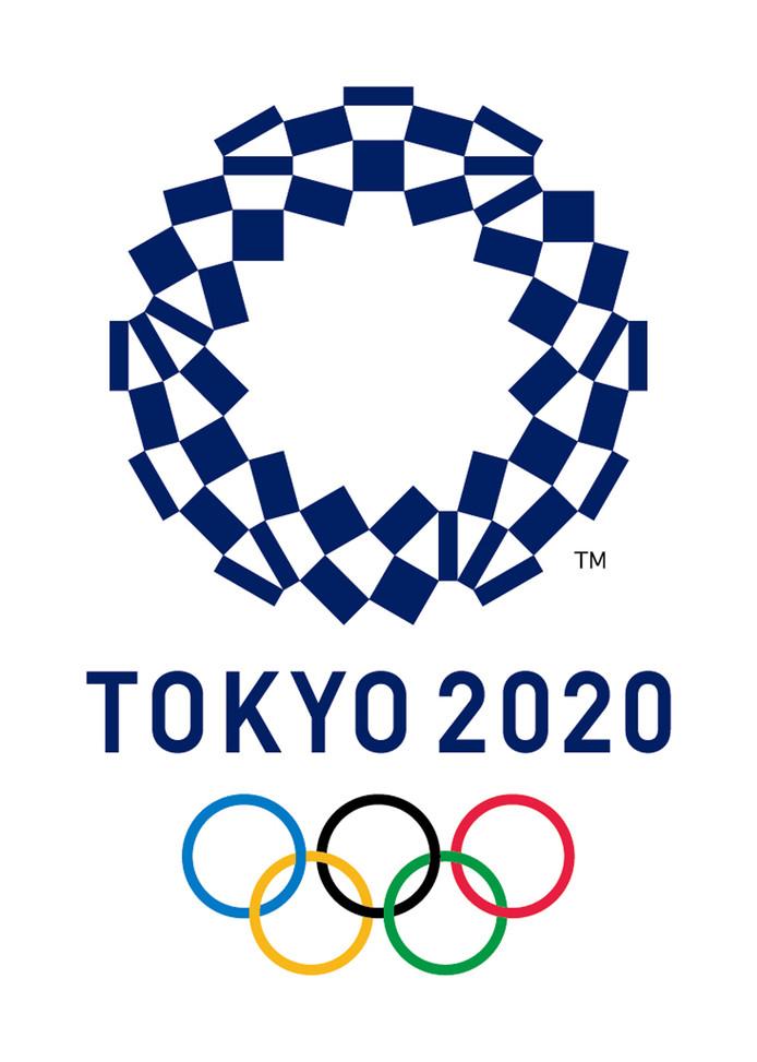 Het logo van de Olympische Spelen in Tokio.